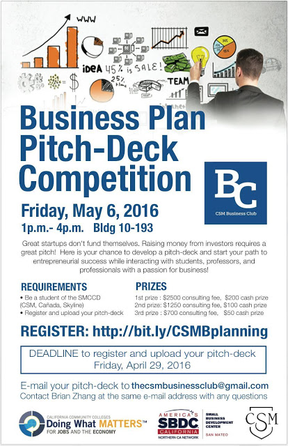 College of San Mateo's Business Plan Pitch-Deck Competition